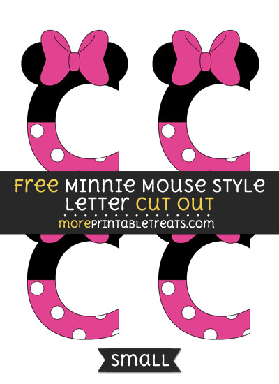 Free Minnie Mouse Style Letter C Cut Out - Small Size Printable