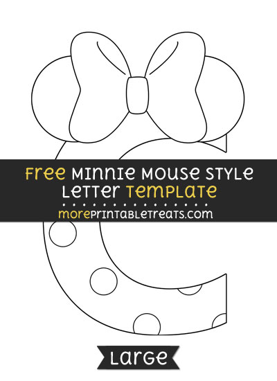Free Minnie Mouse Style Letter C Template - Large