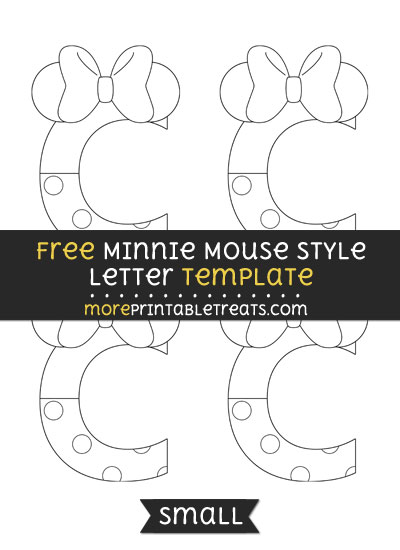 Free Minnie Mouse Style Letter C Template - Small