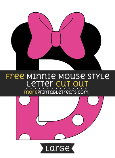 Free Minnie Mouse Style Letter D Cut Out - Large size printable