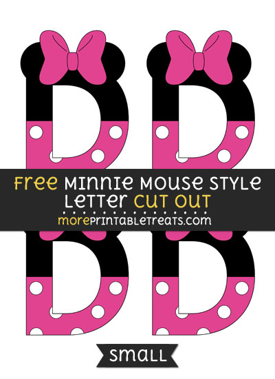 Free Minnie Mouse Style Letter D Cut Out - Small Size Printable