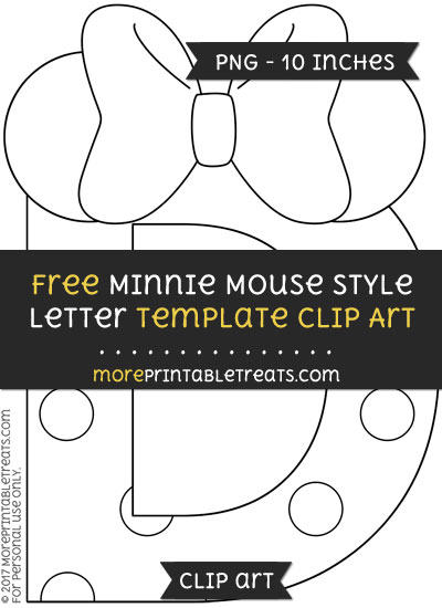Free Minnie Mouse Style Letter D Template - Clipart