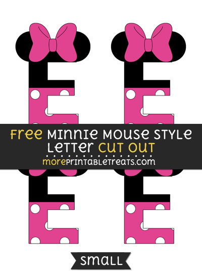 Free Minnie Mouse Style Letter E Cut Out - Small Size Printable