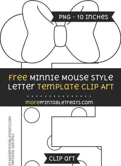 Free Minnie Mouse Style Letter E Template - Clipart