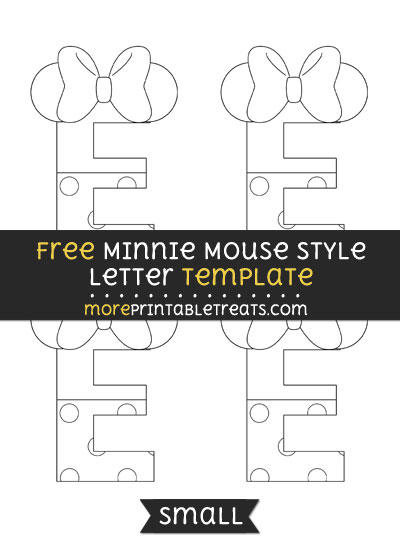 Free Minnie Mouse Style Letter E Template - Small