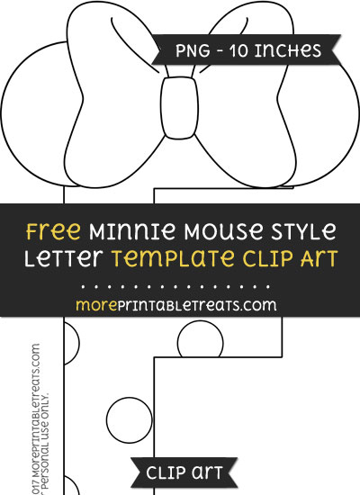 Free Minnie Mouse Style Letter F Template - Clipart