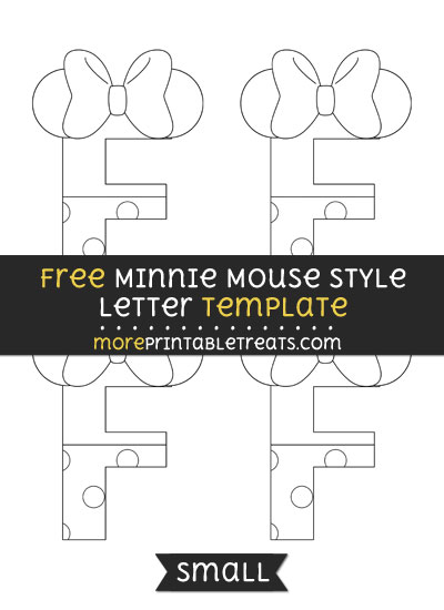 Free Minnie Mouse Style Letter F Template - Small
