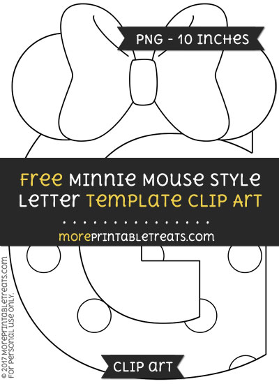 Free Minnie Mouse Style Letter G Template - Clipart
