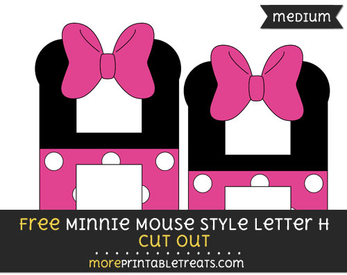 Free Minnie Mouse Style Letter H Cut Out - Medium Size Printable