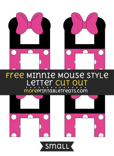 Free Minnie Mouse Style Letter H Cut Out - Small Size Printable