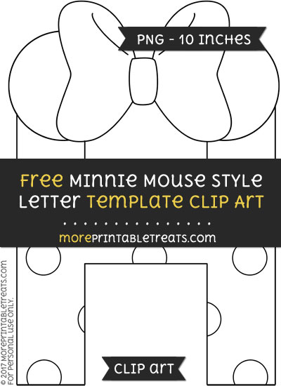 Free Minnie Mouse Style Letter H Template - Clipart