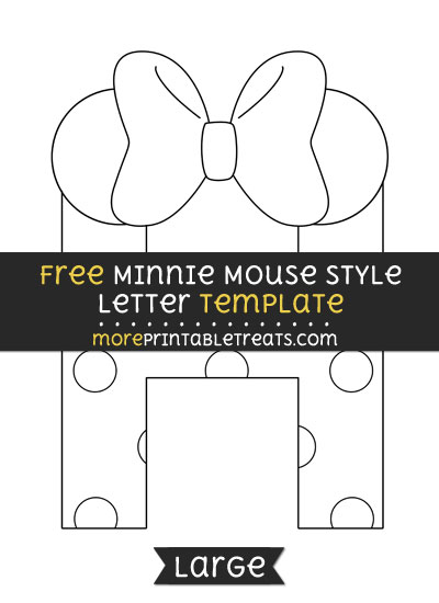 Free Minnie Mouse Style Letter H Template - Large