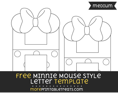 Free Minnie Mouse Style Letter H Template - Medium