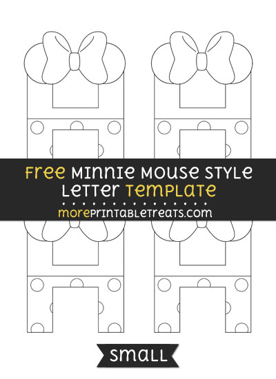 Free Minnie Mouse Style Letter H Template - Small