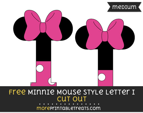 Free Minnie Mouse Style Letter I Cut Out - Medium Size Printable