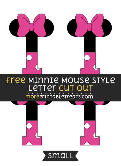 Free Minnie Mouse Style Letter I Cut Out - Small Size Printable