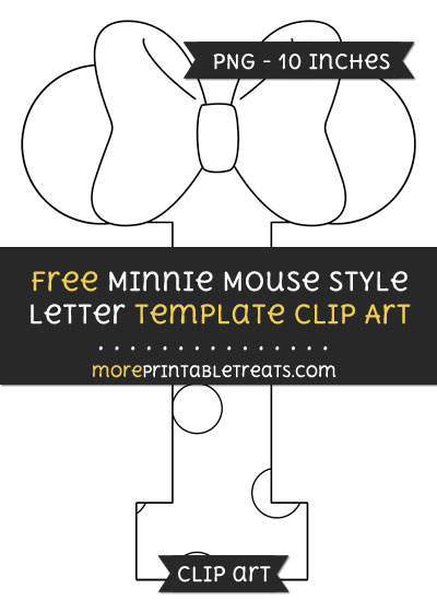 Free Minnie Mouse Style Letter I Template - Clipart