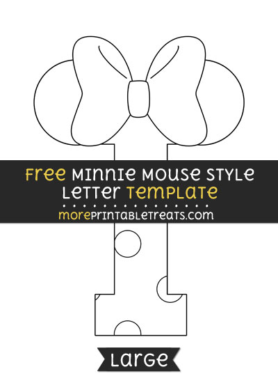 Free Minnie Mouse Style Letter I Template - Large