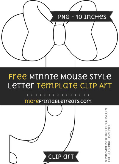 Free Minnie Mouse Style Letter J Template - Clipart