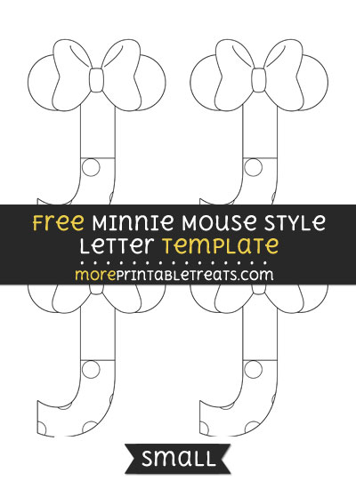 Free Minnie Mouse Style Letter J Template - Small