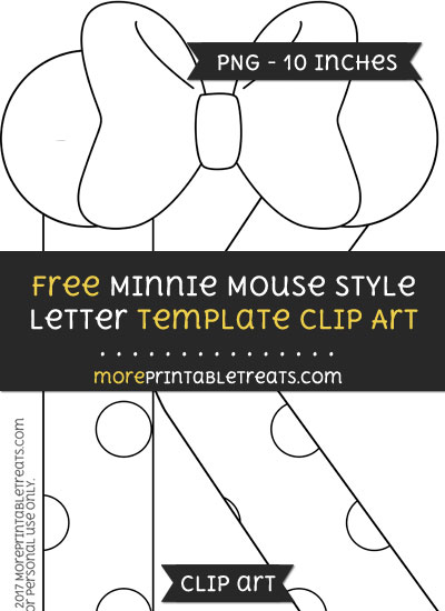 Free Minnie Mouse Style Letter K Template - Clipart