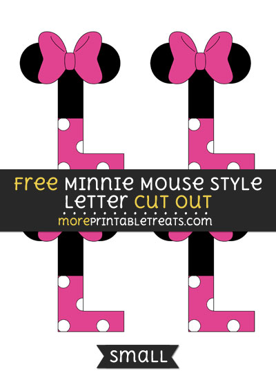 Free Minnie Mouse Style Letter L Cut Out - Small Size Printable