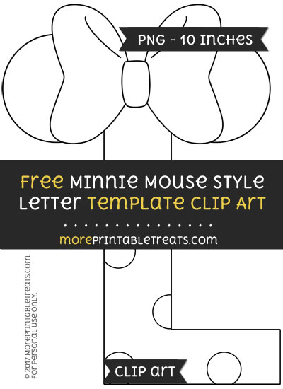 Free Minnie Mouse Style Letter L Template - Clipart