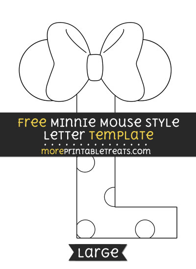Free Minnie Mouse Style Letter L Template - Large