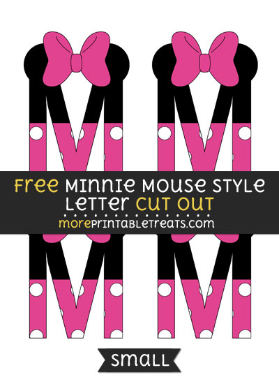 Free Minnie Mouse Style Letter M Cut Out - Small Size Printable