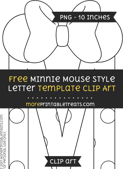 Free Minnie Mouse Style Letter M Template - Clipart