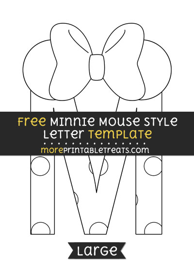 Free Minnie Mouse Style Letter M Template - Large