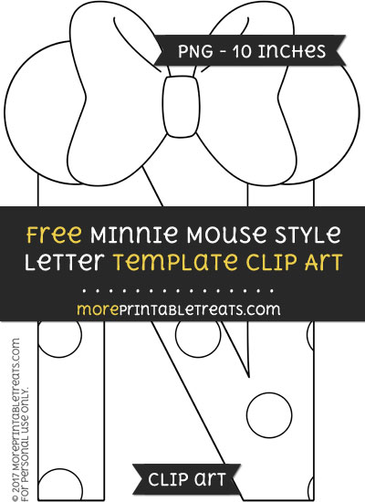 Free Minnie Mouse Style Letter N Template - Clipart