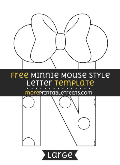 Free Minnie Mouse Style Letter N Template - Large
