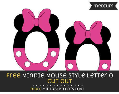 Free Minnie Mouse Style Letter O Cut Out - Medium Size Printable