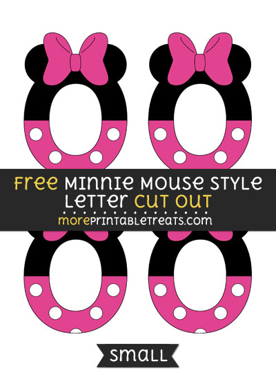 Free Minnie Mouse Style Letter O Cut Out - Small Size Printable