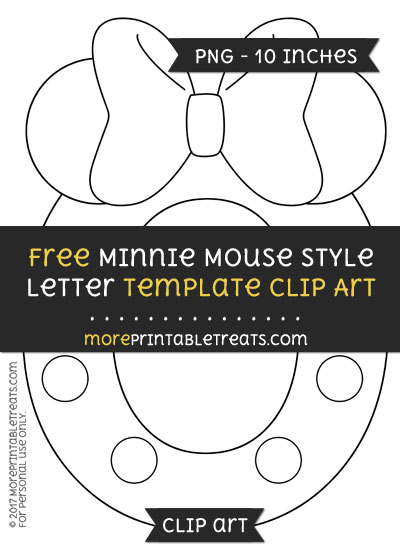 Free Minnie Mouse Style Letter O Template - Clipart