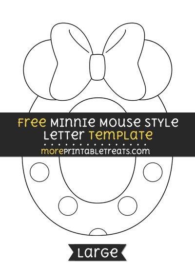 Free Minnie Mouse Style Letter O Template - Large