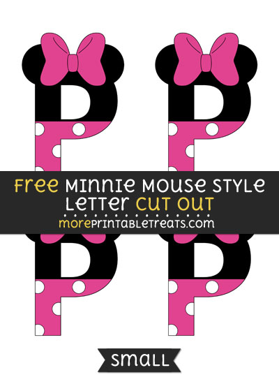 Free Minnie Mouse Style Letter P Cut Out - Small Size Printable