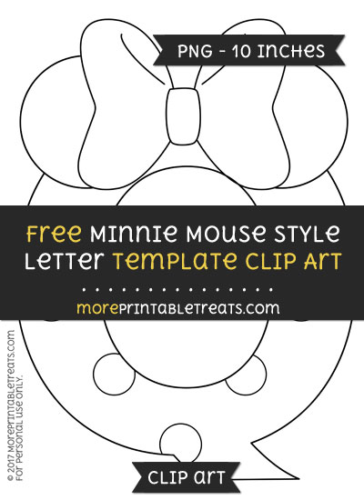 Free Minnie Mouse Style Letter Q Template - Clipart