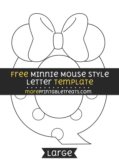 Free Minnie Mouse Style Letter Q Template - Large