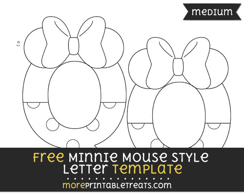 Free Minnie Mouse Style Letter Q Template - Medium