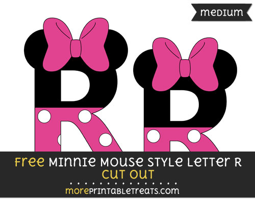 Free Minnie Mouse Style Letter R Cut Out - Medium Size Printable