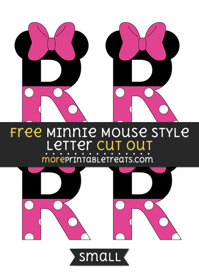 Free Minnie Mouse Style Letter R Cut Out - Small Size Printable