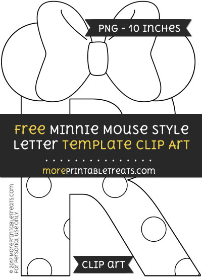 Free Minnie Mouse Style Letter R Template - Clipart