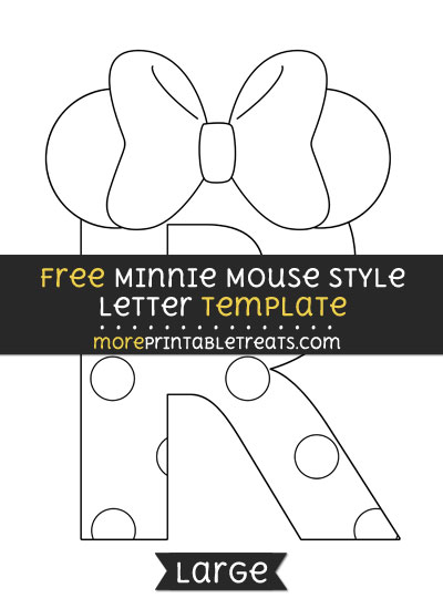 Free Minnie Mouse Style Letter R Template - Large