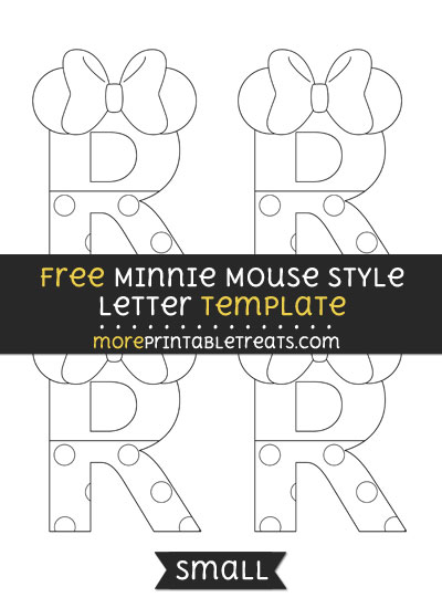 Free Minnie Mouse Style Letter R Template - Small
