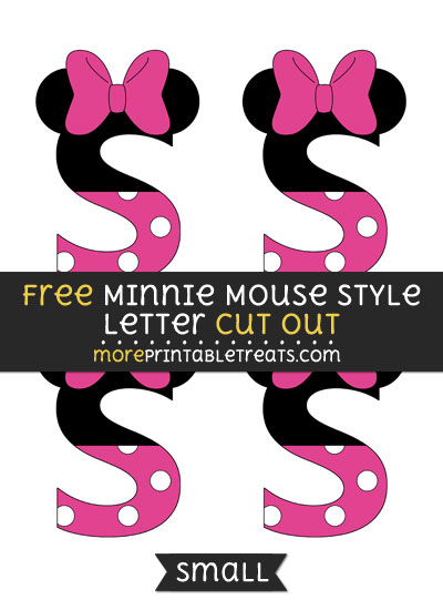 Free Minnie Mouse Style Letter S Cut Out - Small Size Printable
