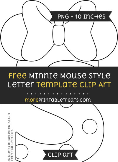Free Minnie Mouse Style Letter S Template - Clipart