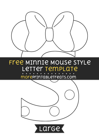 Free Minnie Mouse Style Letter S Template - Large