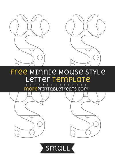 Free Minnie Mouse Style Letter S Template - Small